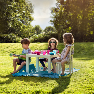 A Kids Picnic on the Lawn