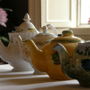 Teapots at Roundwood