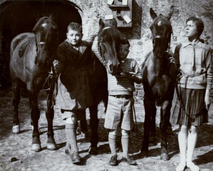 Chetwode, John & Enid with Ponies